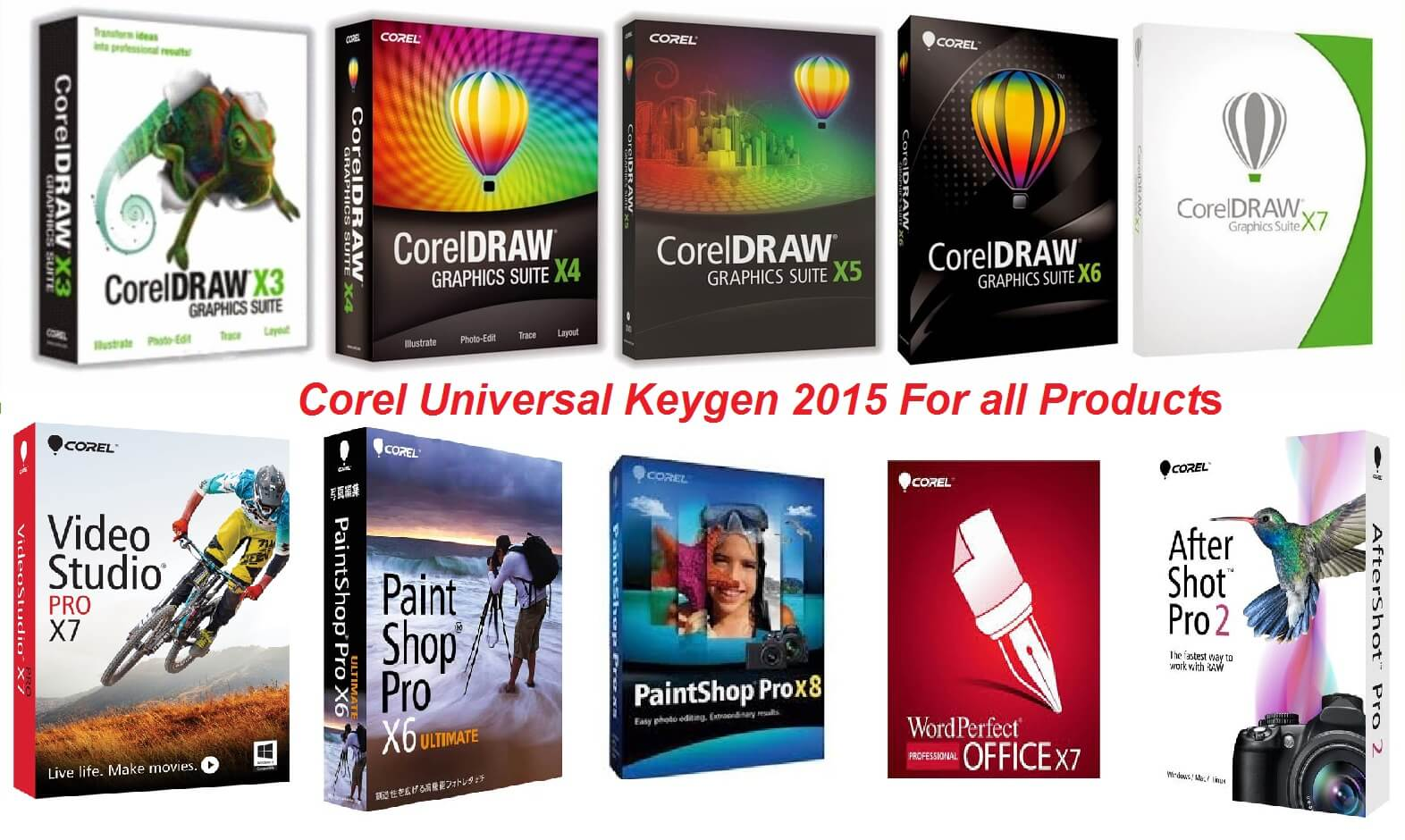 Corel Universal Keygen 2015 Free Serial Key for all Products