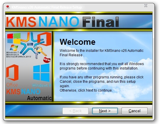 KMSnano Automatic Activator Final Full Free for Windows and MS Office