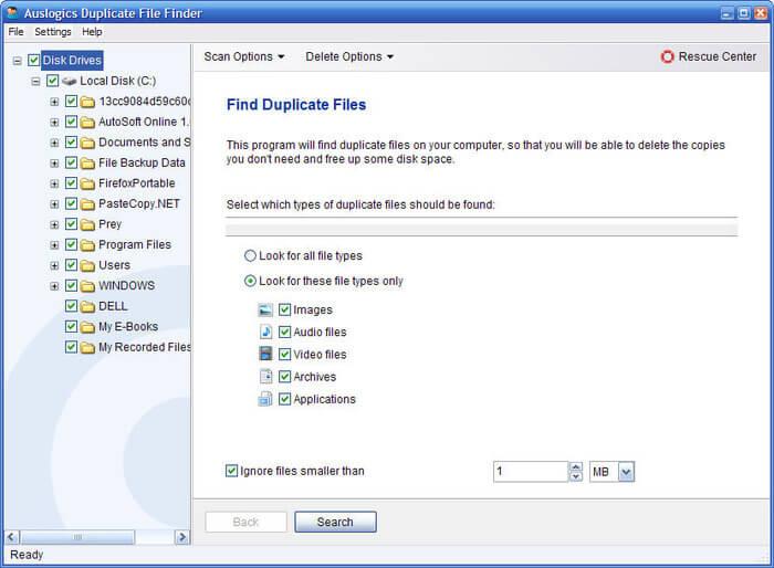Auslogics Duplicate File Finder Portable Free Download