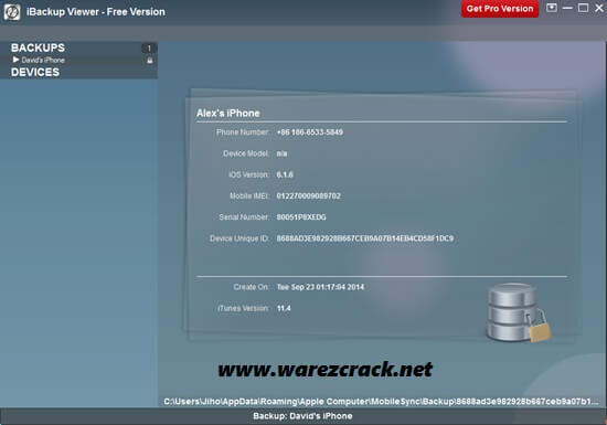 iBackup Viewer Pro Serial Number 3.23 For Mac OSX + Windows Free