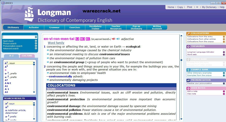 Longman Dictionary of Contemporary English DCE