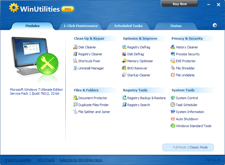 WinUtilities Professional Edition 13.21 Serial Key
