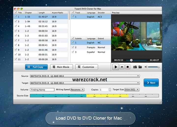 tipard dvd cloner for mac registration code