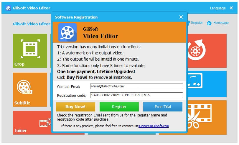 GiliSoft Video Editor Crack 8 Serial Key Full Version Download