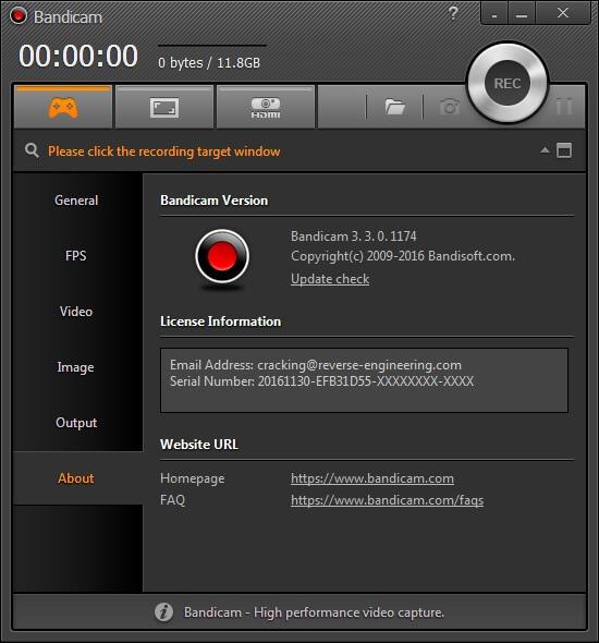 Bandicam 3.3.0.1174 Serial Key
