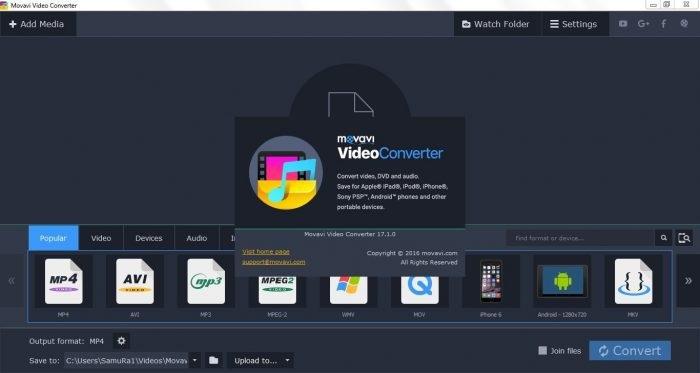 Movavi Video Converter 17.2.1 Activation Key