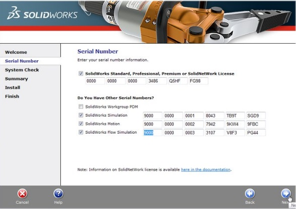 SolidWorks 2017 SP2 Serial Number