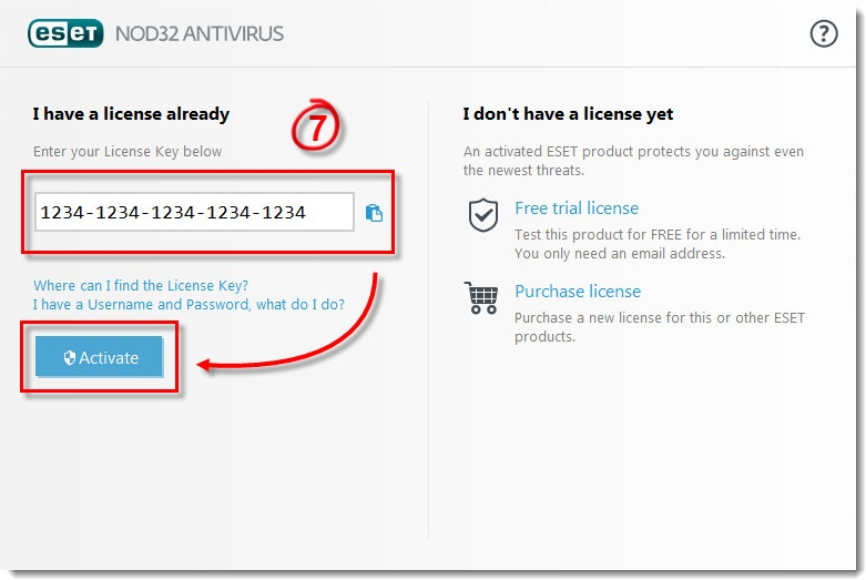 ESET NOD32 Antivirus 9 Activation key