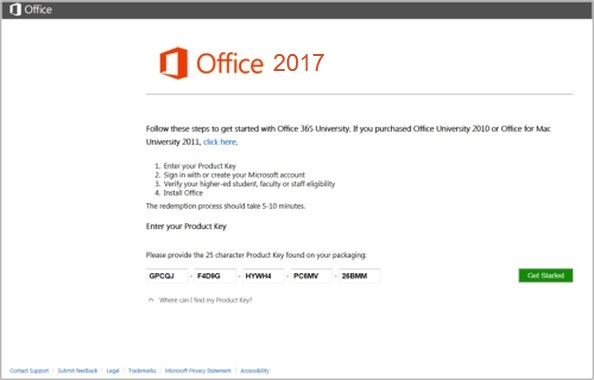 Product Keys for Microsoft Office 2017