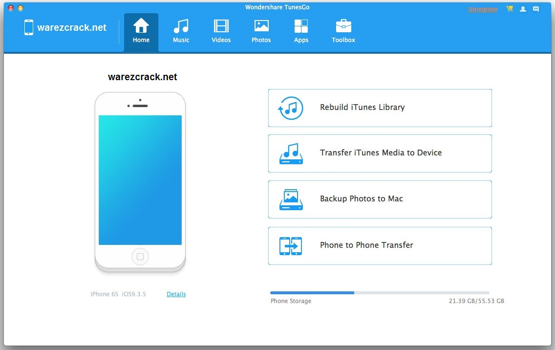 Wondershare TunesGo 9.5.2 Crack