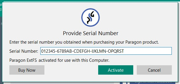paragon extfs for mac os x serial number