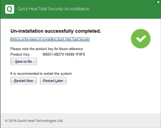 Quick Heal Total Security 2018 Key