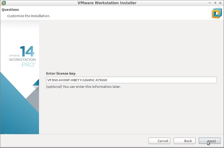 VMware Workstation Pro 14 Activation Code