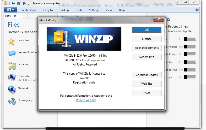 Winzip free download without registration code