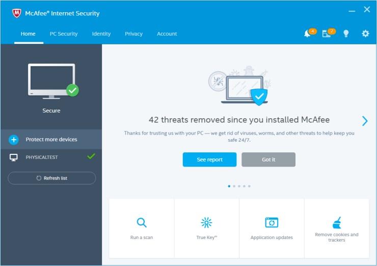 McAfee Internet Security 2018 License Key