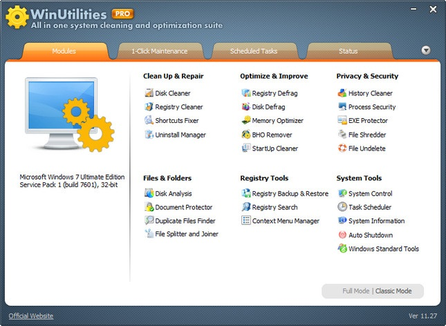 WinUtilities Professional Edition 15.1 Keygen