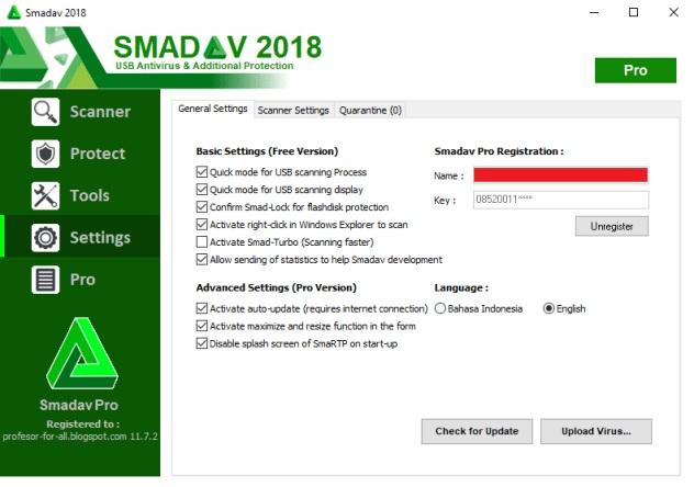 smadav pro 2018 serial key