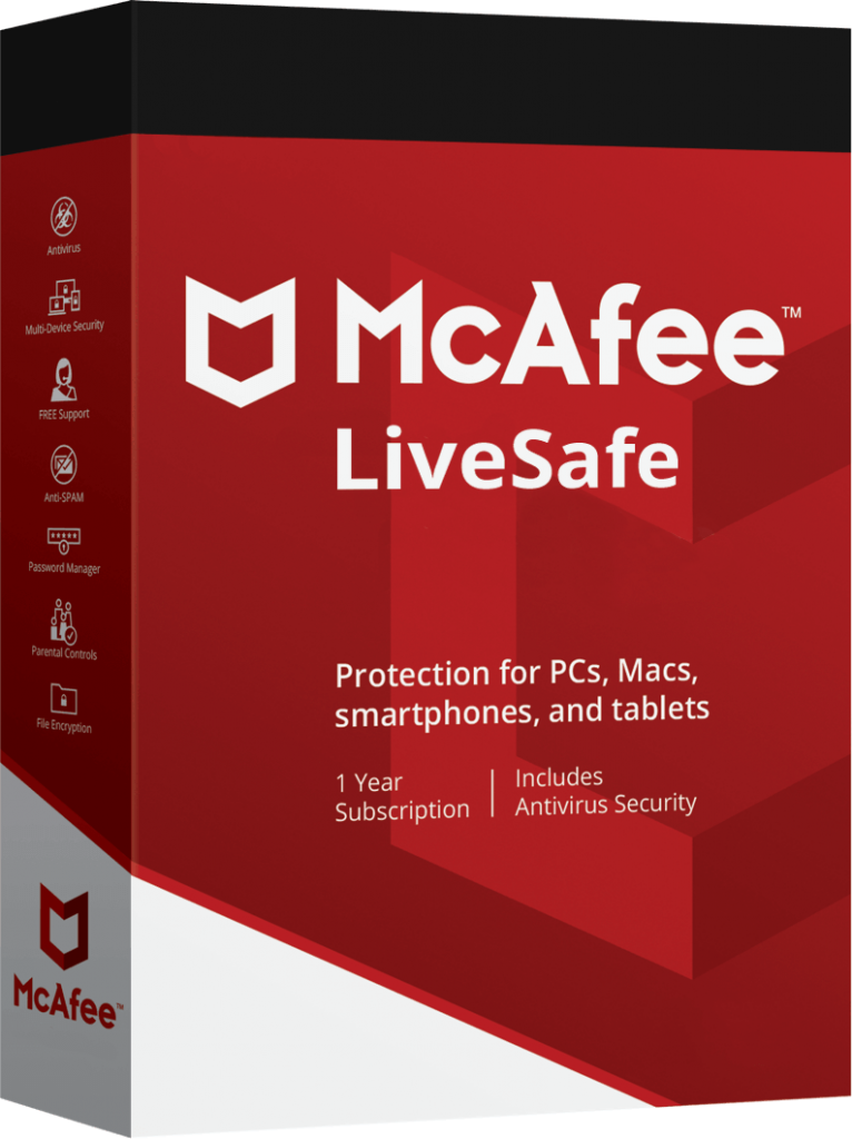 mcafee livesafe 2019 crack  serial key free download