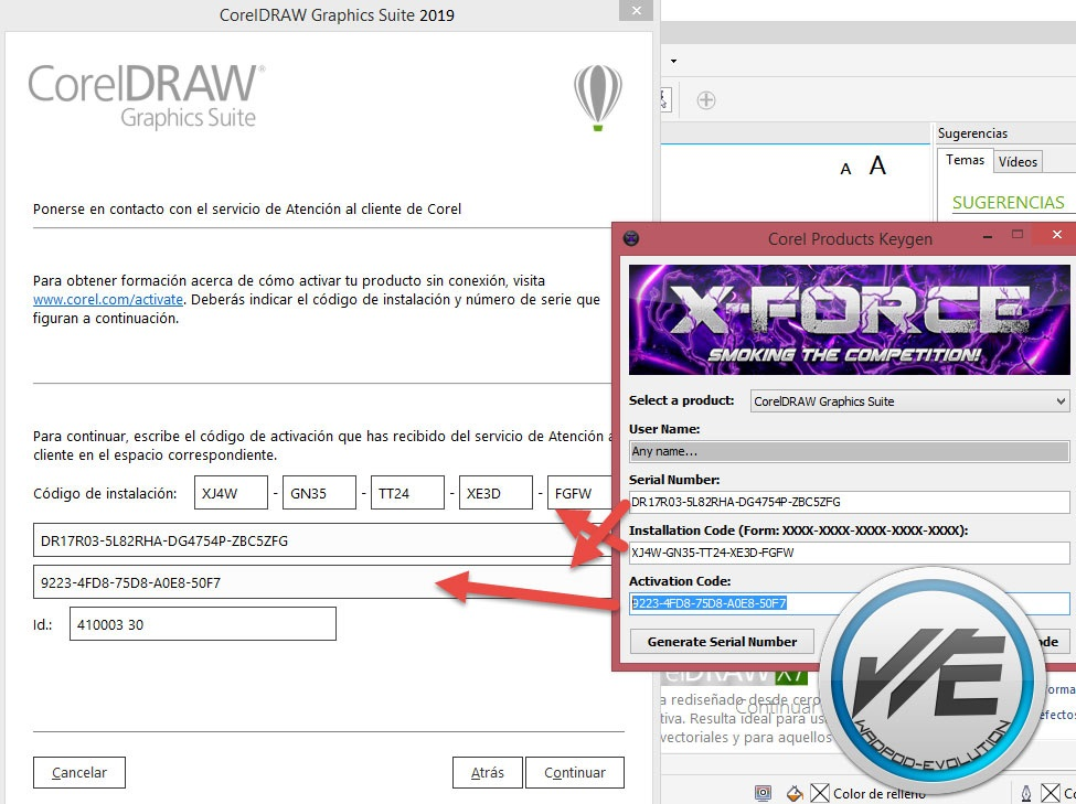 corel draw x7 serial number and activation code Archives