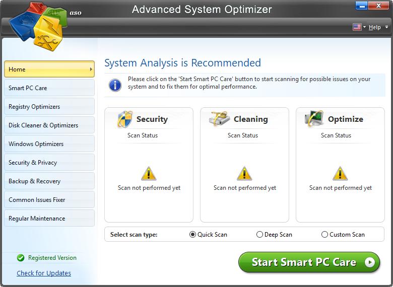 Advanced System Optimizer 3.9.3700.18392 Crack + Key [2021]